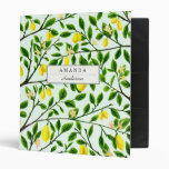 Lemon Tree Print Custom Binder