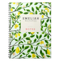 Lemon Tree Print Custom Notebook