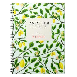 Lemon Tree Print Custom Notebook