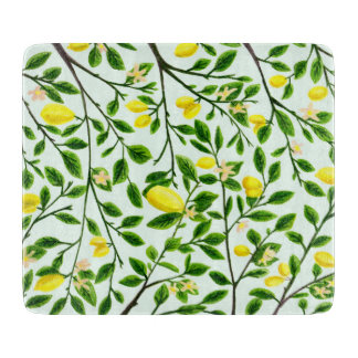 Lemon Tree Print Cutting Board
