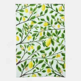 Lemon Tree Print Kitchen Towel