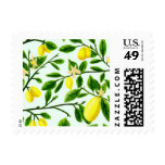 Lemon Tree Print Postage Stamps