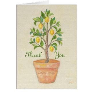 Lemon Tree thank you card