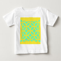 Lemon-Turquoise Geometric Pattern Gifts by Sharles Baby T-Shirt