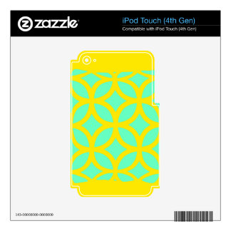 Lemon-Turquoise Geometric Pattern Gifts by Sharles Decal For iPod Touch 4G