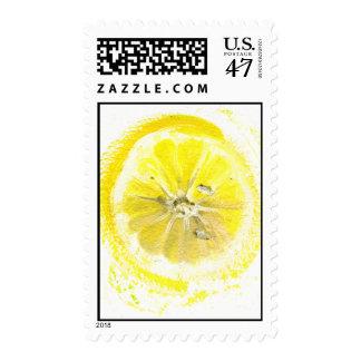 lemon watercolor postage