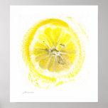 Lemon watercolor poster