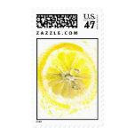 lemon watercolor stamp