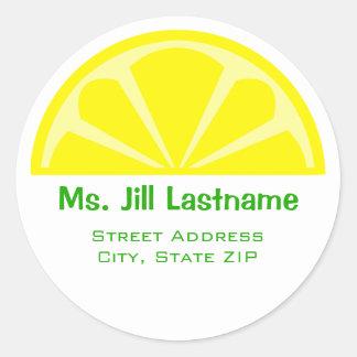 Lemon Wedge Address Label Sticker