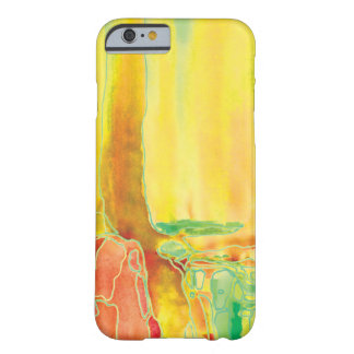 Lemon Yellow Abstact Water Art iPhone 6 Case