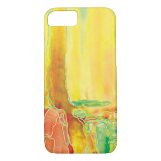 Lemon Yellow Abstact Water Art iPhone 7 Case