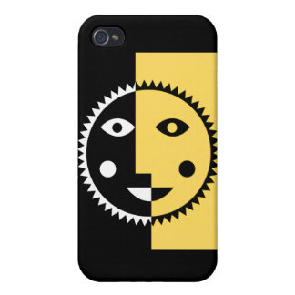 Lemon Yellow Abstract Sun iPhone 4/4S Cover