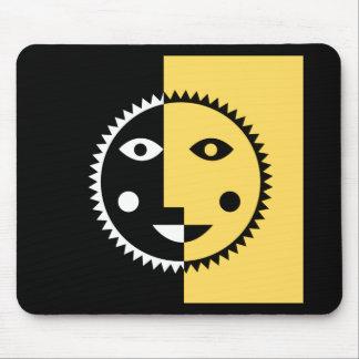 Lemon Yellow Abstract Sun Mouse Pad