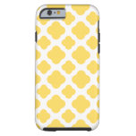 Lemon Yellow and White Quatrefoil Pattern iPhone 6 Case