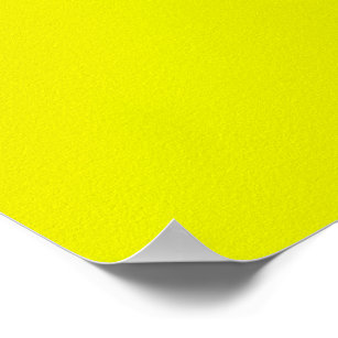 Lemon Yellow Background Color Customize This Poster