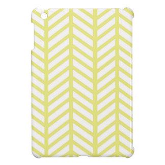 Lemon Yellow Chevron Folders iPad Mini Case
