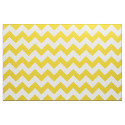Lemon Yellow Chevron Zigzag Fabric