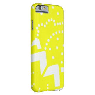 Lemon yellow cirtus graphic dot geometric pattern barely there iPhone 6 case