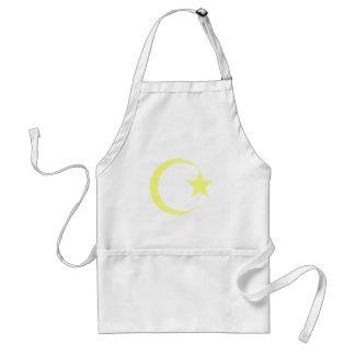 Lemon Yellow Crescent & Star.png Aprons