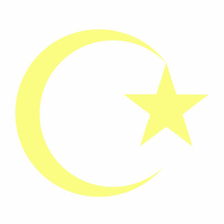 Lemon Yellow Crescent & Star.png Statuette
