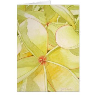 Lemon Yellow Frangipani Card