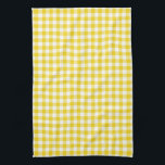 """Lemon Yellow Gingham Pattern Kitchen Towels<br><div class=""""desc"""">Modern Lemon Yellow color kitchen towels. These small check pattern gingham dish towels are perfect for drying glassware or dishes,  general kitchen use or simply as a stylish decorative touch for the kitchen. Made in the U.S.A. and machine washable. An ideal Christmas,  shower,  wedding,  birthday or housewarming gift.</div>"""
