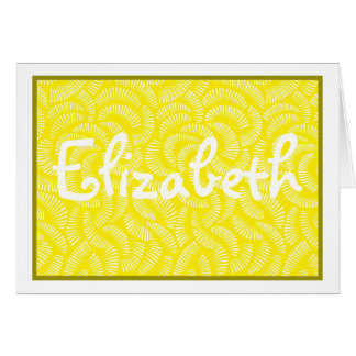 Lemon Yellow Japanese Tropical Fans Card