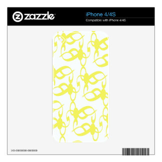 Lemon Yellow Lace iPhone 4S Decals