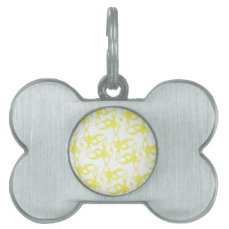 Lemon Yellow Lace Pet ID Tag