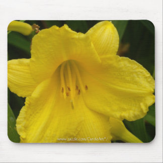 """Lemon Yellow Lily"" Mouse Pads"