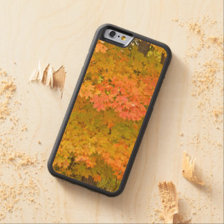 """LEMON YELLOW, MARIGOLD, LIME GREEN LEAVES"" CARVED® MAPLE iPhone 6 BUMPER"