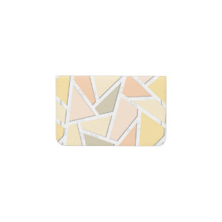 Lemon yellow mosaic pattern business card holder