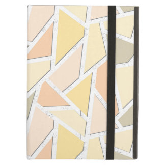 Lemon yellow mosaic pattern case for iPad air