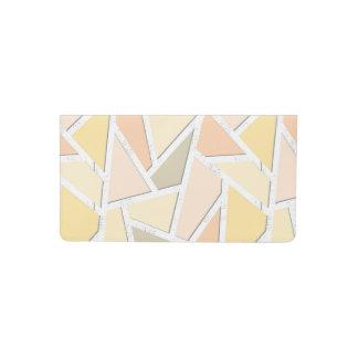 Lemon yellow mosaic pattern checkbook cover