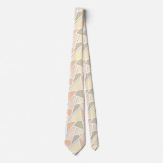 Lemon yellow mosaic pattern neck tie