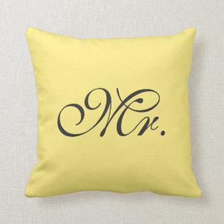 Lemon Yellow Mr. Pillow