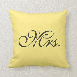 Lemon Yellow Mrs. Pillow