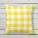 "Lemon Yellow Outdoor Pillows - Gingham Pattern<br><div class=""desc"">Lemon Yellow gingham pillows for outdoors. Made in the USA. High quality twill pattern print in vibrant colors. UV and mildew resistant garden or patio pillows with a gingham or buffalo check pattern. Available in 16 or 20 inch square and 13 by 21 rectangular sizes. Insert included. (Also available as...</div>"