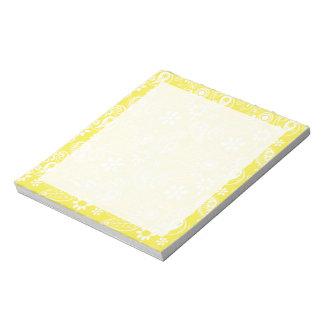 Lemon Yellow Paisley Note Pad