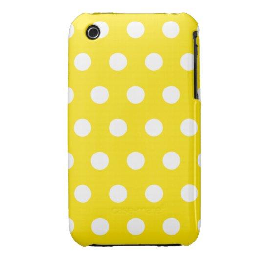 Lemon Yellow Polka Dot iPhone 3G Case
