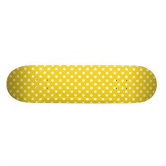 Lemon Yellow Polka Dot Pattern Skateboard Decks