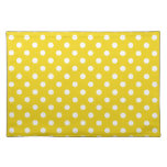 Lemon Yellow Polka Dot Place Mat Placemats