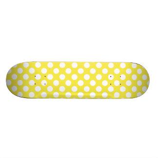 Lemon Yellow Polka Dots Skate Deck
