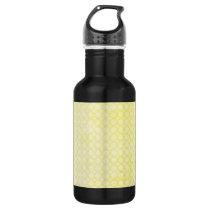 Lemon yellow pretty pattern water bottle