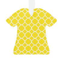 Lemon Yellow Quatrefoil Pattern Ornament