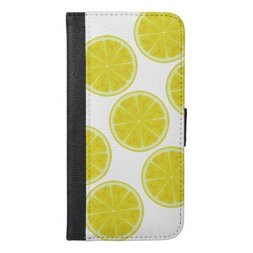 Lemon Yellow Slice iPhone 6/6s Plus Wallet Case