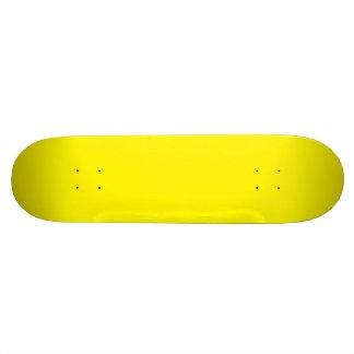 LEMON YELLOW (solid fruity color) ~ Skateboard Deck