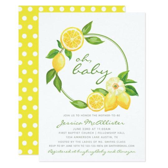 Yellow, White Gray Elephant 🐘 Baby Shower Invitation