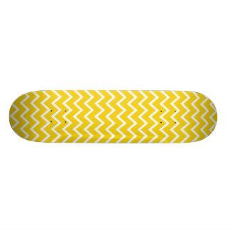 Lemon Yellow Zig Zag Chevron Skateboard