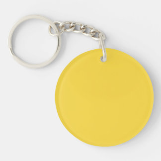 Lemon Zest Bright Yellow Color Trend Template Single-Sided Round Acrylic Keychain
